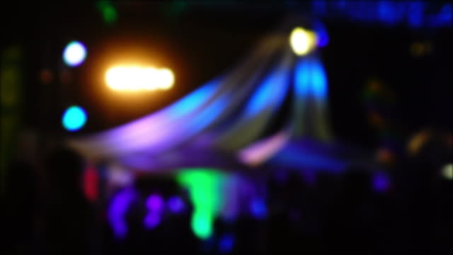 colourful light in night club party, blur shot