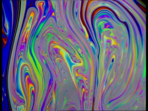 cu colourful liquid effect, soap bubbles - soap sud stock videos & royalty-free footage