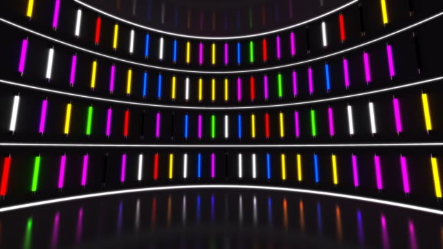 colourful neon party lights - stage light stock videos & royalty-free footage