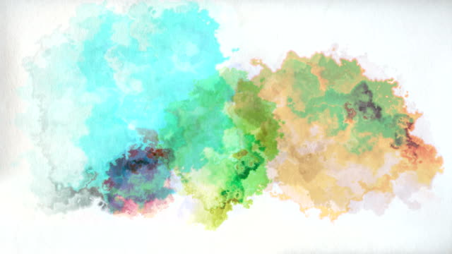 colourful paint drops on paper - stained stock videos & royalty-free footage