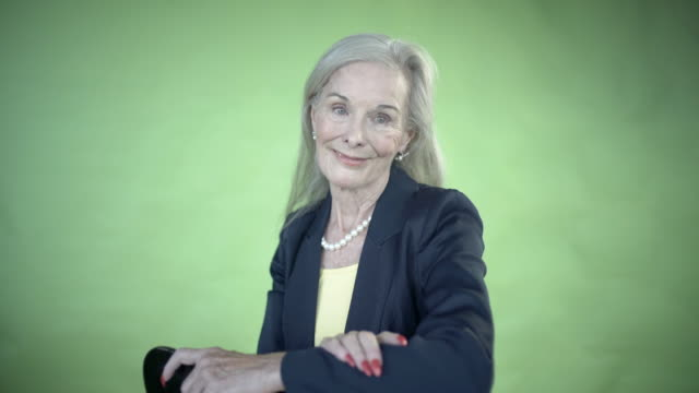 A colourful senior lady.