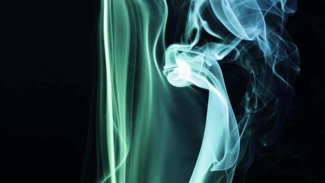 Colourful Smoke on Black Background