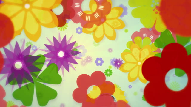 colourful spring flowers dancing and flowing - film festival stock videos & royalty-free footage