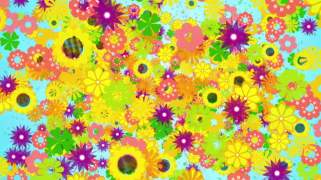 colourful spring flowers falling and flowing - film festival stock videos & royalty-free footage