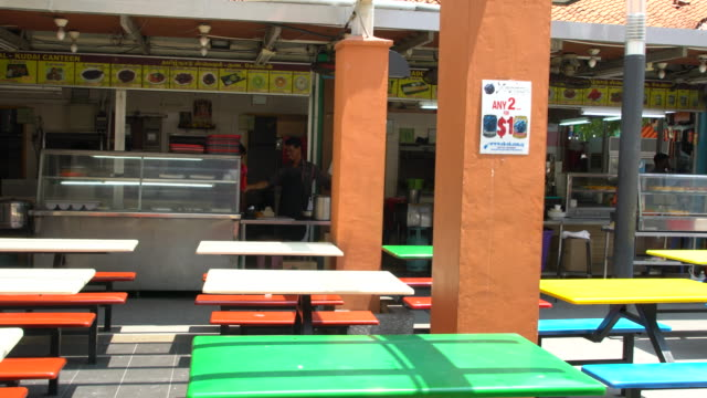 colourful street food restaurant in the little india, singapore - female likeness stock videos & royalty-free footage