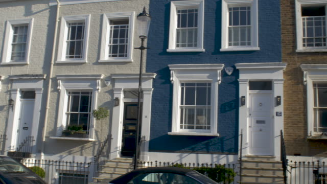 colourful townhouses in notting hill,london. - flat stock videos & royalty-free footage