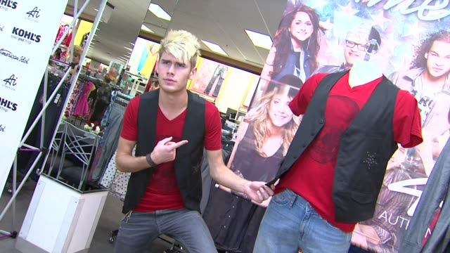 colton dixon at american idol season 11 contestants appear at los angeles kohl's for american idol's 'authentic icon collection in los angeles ca... - american idol stock videos and b-roll footage