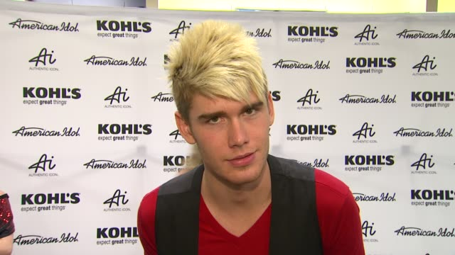 colton dixon on kohl's 50th birthday why he is here fashion inspirations and best idol moment at american idol season 11 contestants appear at los... - american idol stock videos and b-roll footage