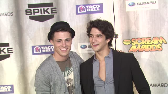 colton haynes and tyler posey at the spike tv's 'scream awards at universal city ca - universal city stock videos & royalty-free footage