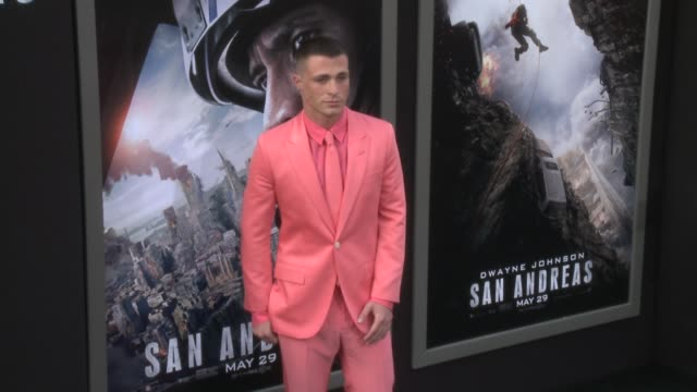 stockvideo's en b-roll-footage met colton haynes at the san andreas los angeles world premiere at tcl chinese theatre on may 26 2015 in hollywood california - mann theaters