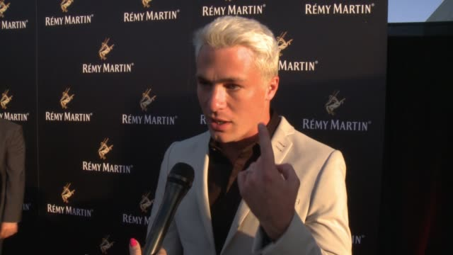 colton haynes on his favorite way to drink remy martin at rémy martin hosts a special evening with jeremy renner and fetty wap celebrating the... - wap stock videos & royalty-free footage