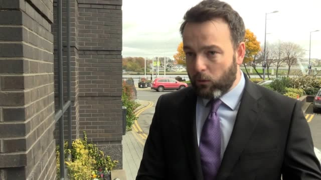 colum eastwood of the social democratic and labour party and elisha mccallion from sinn fein make their pitch for votes in the foyle constituency as... - canvas stock videos & royalty-free footage