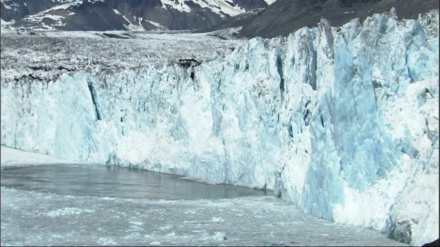 columbia glacier calves in alaska. available in hd. - columbia glacier stock videos & royalty-free footage