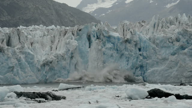 columbia glacier - prince william sound stock videos and b-roll footage