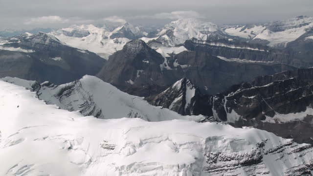 AERIAL Columbia Icefield, Jasper National Park, Alberta, Canada