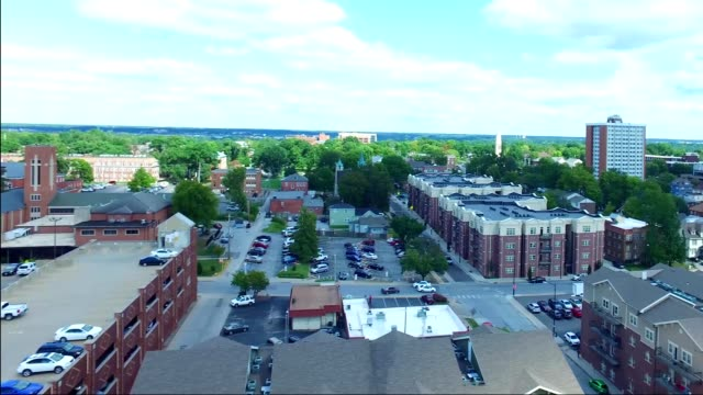 Columbia Missouri Downtown 360 Counterclockwise spin at 150'. The District. MU.