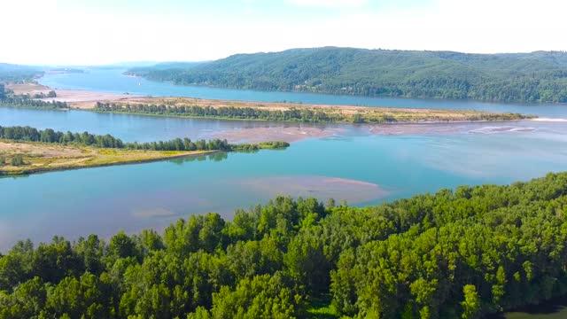 columbia river bei portland oregon - portland oregon stock-videos und b-roll-filmmaterial