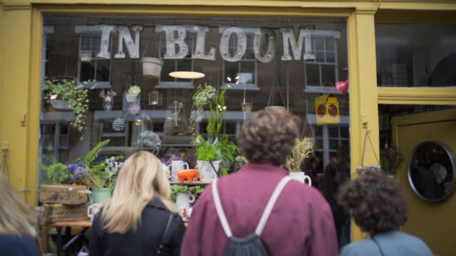 columbia road flower market, london, uk - focus on background stock videos and b-roll footage