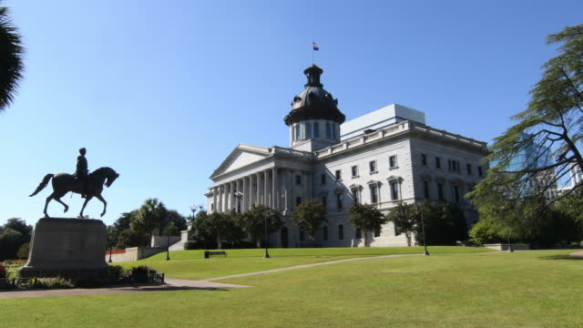columbia south carolina state capital downtown south carolina state house 1855 4k, - south carolina stock videos & royalty-free footage