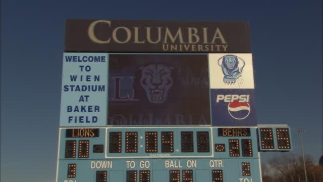 atmosphere columbia university stadium - ncaa college football stock videos and b-roll footage