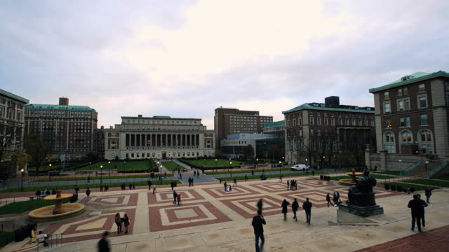 columbia university - time lapse - ivy league university stock videos and b-roll footage