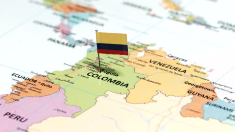 columbia with national flag - colombia stock videos & royalty-free footage
