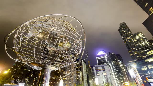 columbus circle, manhatta, new york city - unisphere stock videos & royalty-free footage