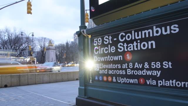 columbus circle time lapse - columbus circle stock videos & royalty-free footage