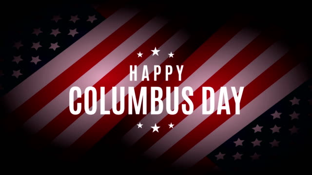 columbus day 4k animation. - poster template stock videos & royalty-free footage