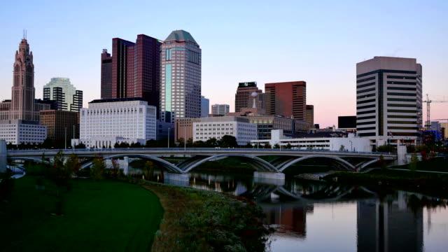 vídeos y material grabado en eventos de stock de horizonte de la ciudad de columbus, ohio - ciudades capitales