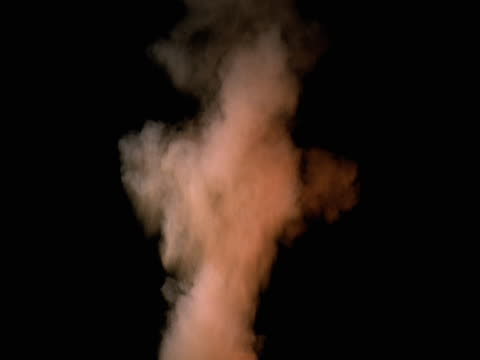 Column of orange smoke