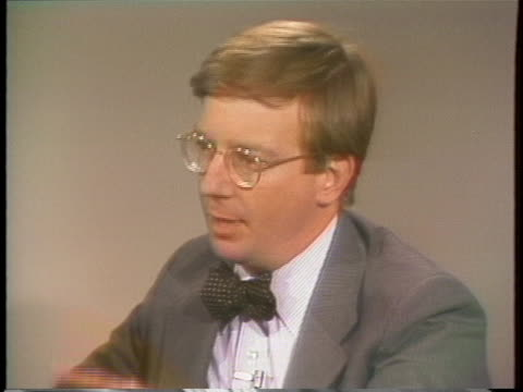 columnist george will comments on the bert lance affair. - columnist stock videos & royalty-free footage