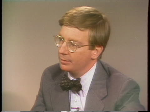 columnist george will comments on the role of the media in the bert lance affair. - columnist stock videos & royalty-free footage