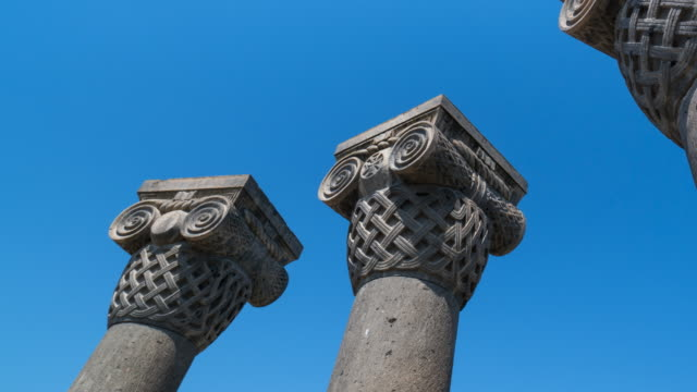 Columns in Zvartnots Cathedral, Etchmiadzin City, Armavir Province, Armenia, Middle East