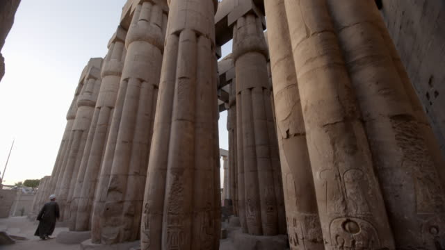 columns, luxor temple, egypt - luxor thebes stock videos & royalty-free footage