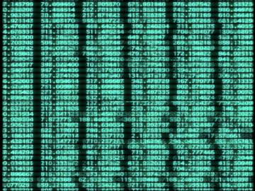 vídeos y material grabado en eventos de stock de cgi columns of green numbers on black background being scrolled down - imagen generada digitalmente