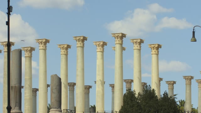 ms, columns of temple of venus and roma, roman forum, rome, italy - korinthisch stock-videos und b-roll-filmmaterial