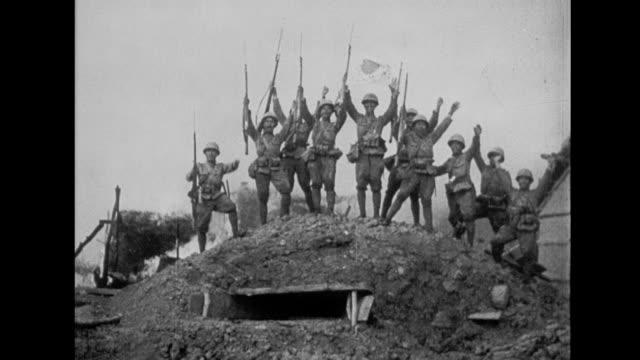 combat footage japanese invasion of china footage of japanchina war on january 01 1930 in china - 1930~1939年点の映像素材/bロール