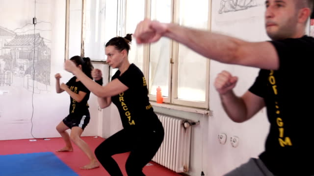 combat training camp - self defence stock videos & royalty-free footage