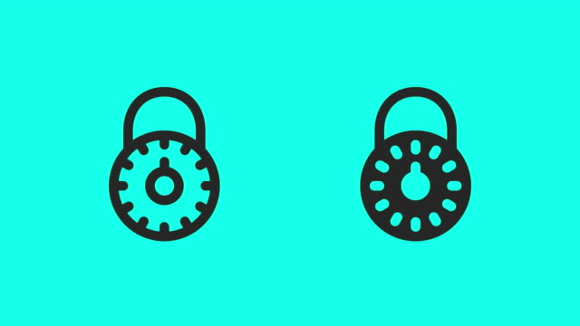 combination lock icons - vector animate - lock stock videos & royalty-free footage
