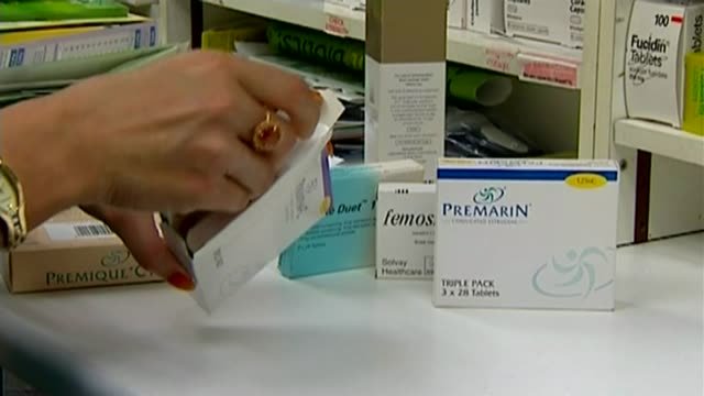 combined hormone replacement therapy breast cancer risk date 'premarin' hrt combined pill taken from packet various hrt medication on shelf pan - hormone stock videos & royalty-free footage