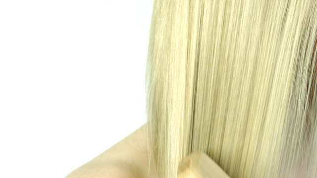 combing hair - blonde hair stock videos & royalty-free footage
