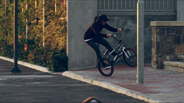 combining practice and precision - freestyle bmx stock videos and b-roll footage