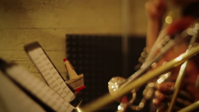 combo of trumpet players playing live - trombone stock videos & royalty-free footage