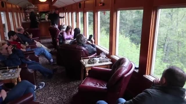 come and see the highlights of a trip on the white pass and yukon railway in skagway, alaska, travelling in one of the luxury carriages. bucket list... - bucket list stock videos & royalty-free footage