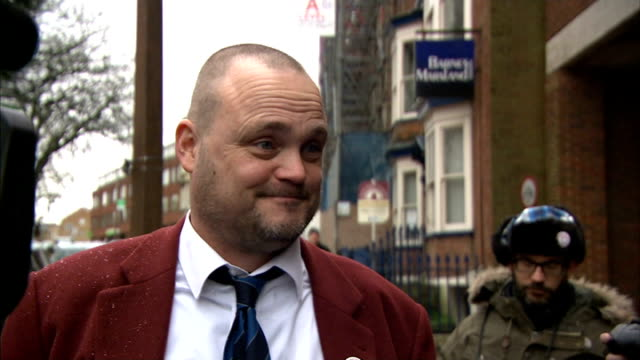 comedian al murray campaigns in thanet; england: kent: thanet: ext men dressed as 'the pub landlord' from car followed by al murray and murray... - al murray stock videos & royalty-free footage