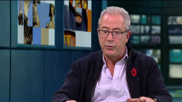 comedian and writer ben elton set to begin new uk tour england london gir int reporter to camera ben elton live studio interview sot - ben elton stock videos and b-roll footage