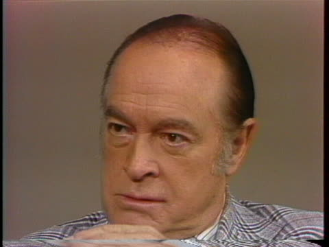 comedian bob hope says the hydrogen bomb is about the only thing that can't be joked about. - bob hope komiker stock-videos und b-roll-filmmaterial