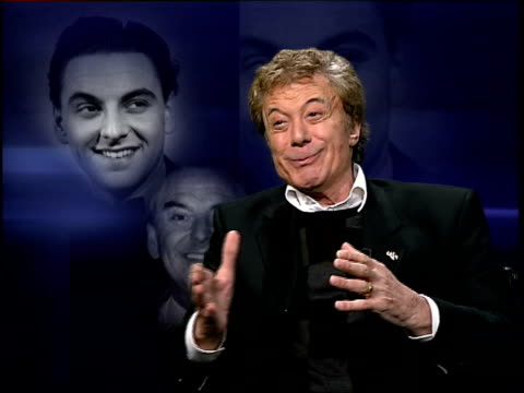 comedian bob monkhouse dies; itn lionel blair interview sot - people said he was so smarmy but he wasn't really / he was funny and clever / you could... - bob monkhouse stock videos & royalty-free footage