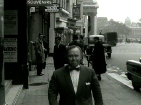 Comedian Charlie Drake arrives at the Coliseum Theatre for a Royal Variety Performance rehearsal